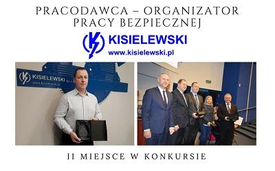 """Wyróżnienie w konkursie """"Pracodawca  – organizator pracy bezpiecznej""""."""